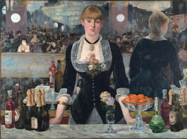 Édouard Manet, A Bar at the Folies-Bergère, oil on canvas, 1882 (Courtauld Gallery, London)