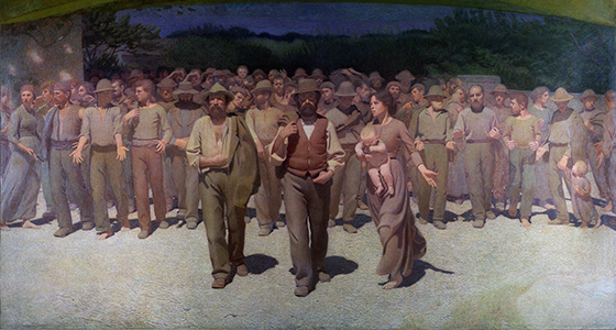 Giuseppe Pellizza da Volpedo, The Fourth Estate (Il Quarto Stato), 1898-1901, oil on canvas, 560 x 283 cm (Museo del Novecento, Milan)