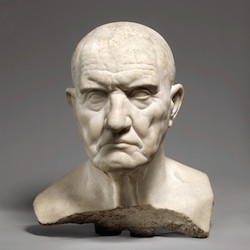 Marble bust of a man, mid 1st century, marble, 14 3/8 inches (The Metropilitan Museum of Art)