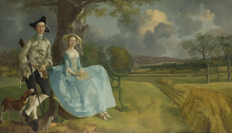 Thomas Gainsborough, Mr. and Mrs. Andrews, c. 1750, oil on canvas, 69.8 x 119.4 cm (The National Gallery, London)