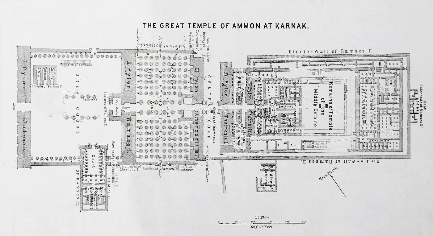 Plan of the Temple of Amon-Re, Karnak