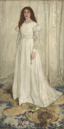 James McNeill Whistler, Symphony in White No. 1: The White Girl, 1861-62, oil on canvas, 213 x 107.9 cm (National Gallery of Art, Washington, D.C.)