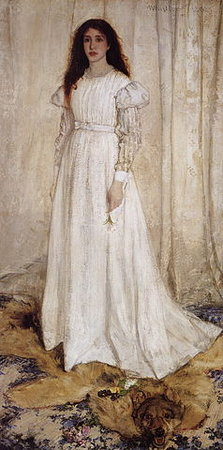 James Abbott McNeil Whistler, Symphony in White, No. 1: The White Girl, 1862, oil on canvas, 213 x 107.9 cm (National Gallery of Art, Washington D.C.)