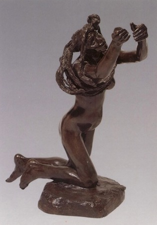 Camille Claudel, The Vanished God, 1894, bronze, 15.5 x 11cm (Private Collection)