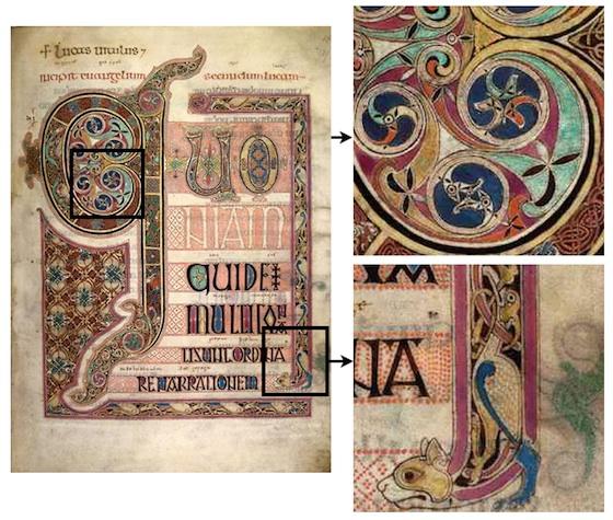 Lindisfarne Gospels, St Luke, incipit page, f.139 (British Museum)