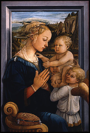 Filippo Lippi, Madonna and Child, c. 1465, tempera on panel, 92 x 63.5 cm (Uffizi Gallery, Florence)
