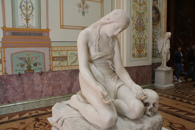 Antonio Canova, The Penitent Magdalene (Hermitage Version), 1809, marble, 94 cm (State Hermitage Museum, St Petersburg, Russia) (photo: Brian Cathcart CC BY-NC-ND 2.0)
