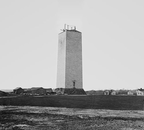 Matthew Brady, Washington Monument, circa 1860, glass plate (wet collodion)