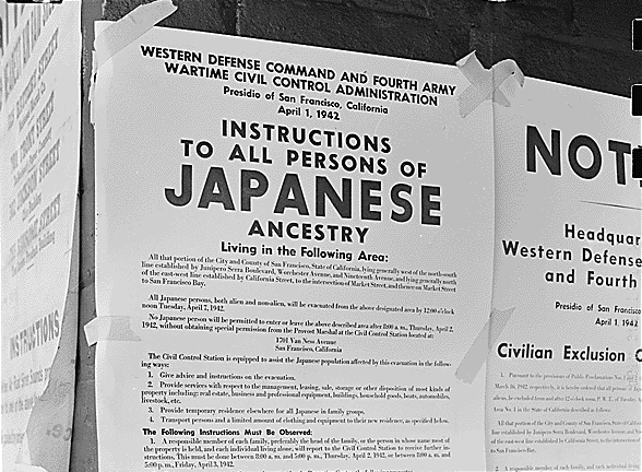 ese internment article world war ii khan academy posters ordered ese american citizens to report for internment image courtesy national archives