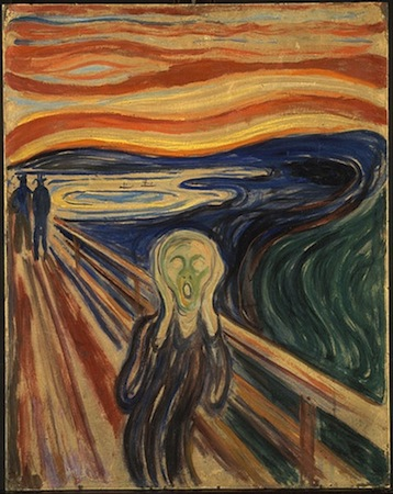 Edvard Munch, The Scream, 1910, tempera on board, 66 x 83 cm (The Munch Museum, Oslo)