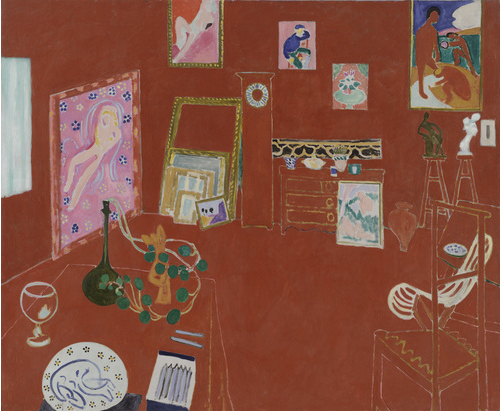 Henri Matisse, The Red Studio, 1911, oil on canvas, 181 x 219.1 cm (Museum of Modern Art, New York)