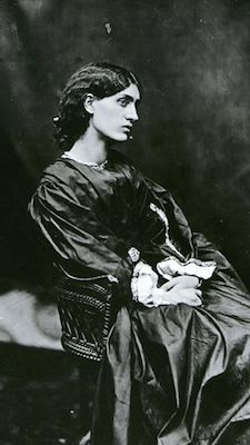 From an album of portraits of Mrs. William Morris (Jane Burden), posed by Rossetti, 1865 (Gordon Bottomley, 1933, available on the rossettiarchive.org)