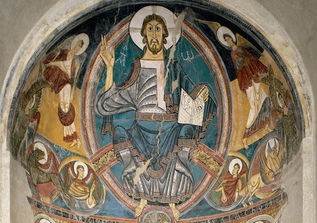 Master of Taüll, apse painting, Sant Clement (Museu Nacional d'Art de Catalunya - MNAC, Barcelona)