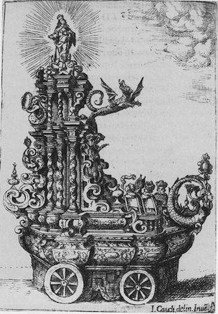 José Caudi, Processional Cart in Juan Bautista Valda, Solenes fiestas (Valencia, 1663)