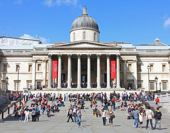 William Wilkins, The National Gallery, 1832-38, Trafalgar Square in London (photo: Wayland Smith CC BY-SA 2.0)
