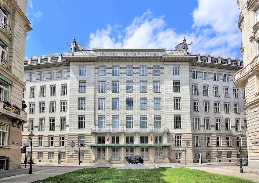 Otto Wagner, Postal Savings Bank, Vienna, 1904-06 and 1910-12