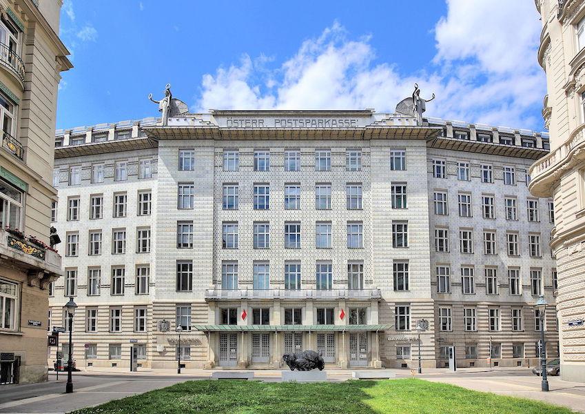 Otto Wagner, Postal Savings Bank, Vienna, 1904-06 and 1910-12