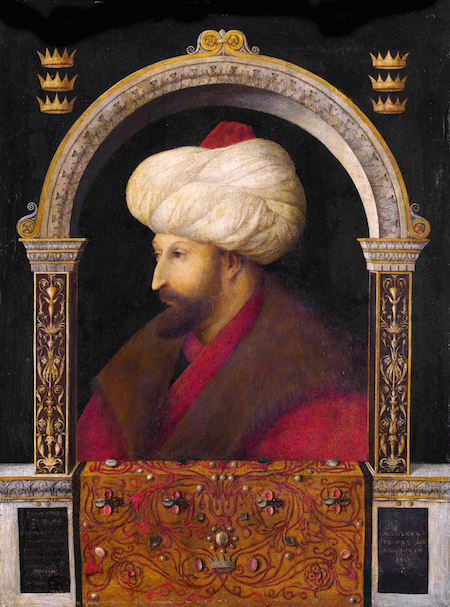 Gentile Bellini, Sultan Mehmed II, 1480, oil on canvas (National Gallery, London)