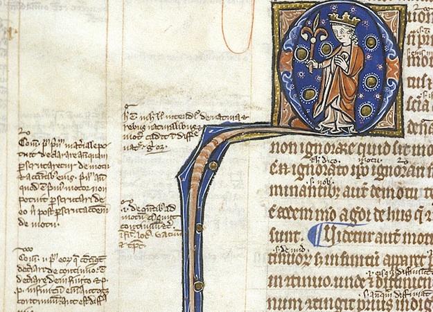 Aristotle, Libri Naturalis, London, British Library, Harley 3487, f. 16v