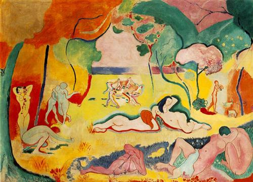 Henri Matisse, Bonheur de Vivre (Joy of Life), 1905-06, oil on canvas, 176.5 x 240.7 cm (The Barnes Foundation, Philadelphia)