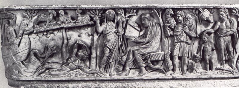 Santa Maria Antiqua Sarcophagus, 3rd century C.E., from the Church of Santa Maria Antiqua, Rome