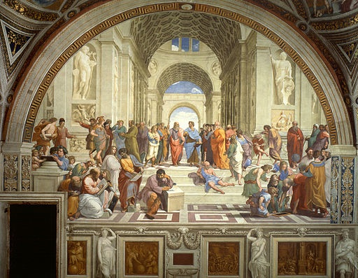 Raphael, School of Athens, 1509-1511, fresco (Stanza della Segnatura, Vatican)