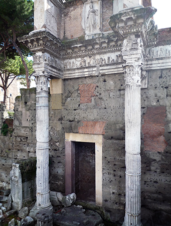 Columns and relief sculpture, Forum Transitorium (Forum of Nerva), c. 97 C.E.