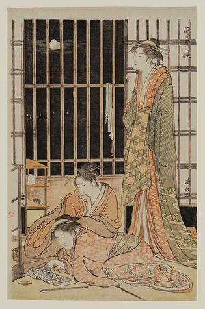 "Torii Kiyonaga, ""The Ninth Month"" from the series The Twelve Months in the Southern District, 1784, woodblock print"