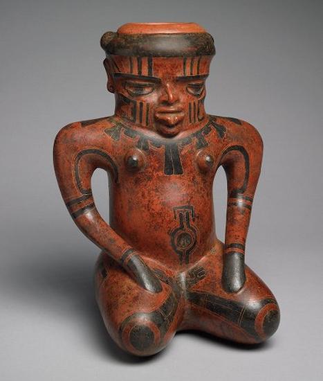 Doe Shaman Effigy,Costa Rica/Nicaragua, c. 500 B.C.E.-300 C.E., ceramic, 32 x 26 x 18 cm (Michael C. Carlos Museum, Emory University) (photo: Bruce M. White)