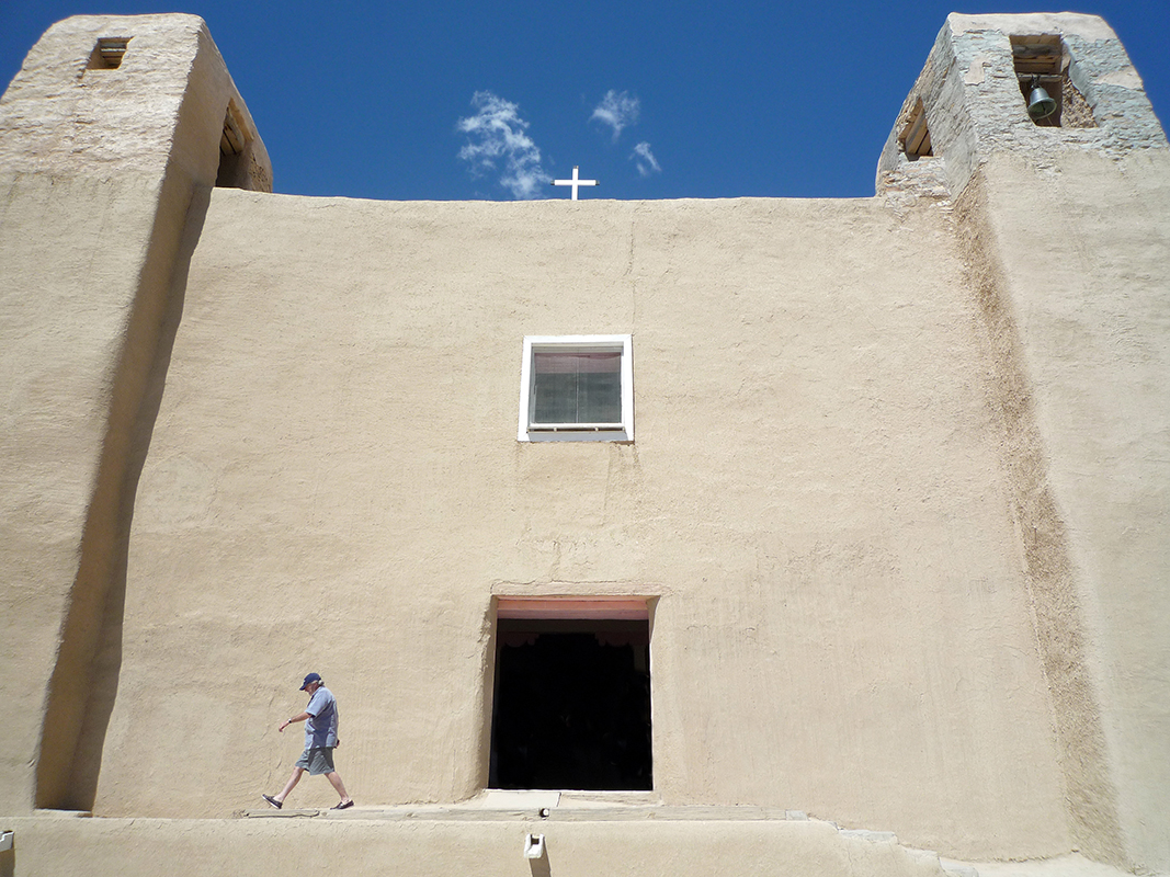 Façade, Mission Church of San Esteban del Rey, 1629, Acoma Pueblo