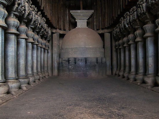 Chaitya at Karle near Lonavala, Maharashtra, first century B.C.E., photo: Fernando Stankuns (CC BY-NC-SA 2.0)