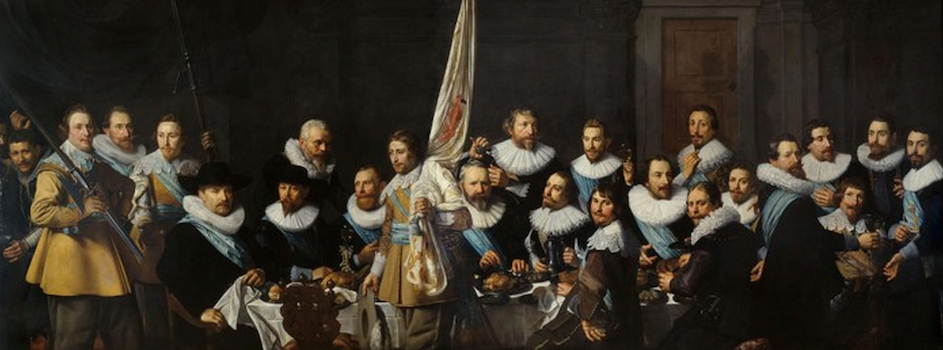 Nicolaes Eliasz. Pickenoy, Civic guards from the company of captain Jacob Backer and lieutenant Jacob Rogh, 1632 (Amsterdam Historical Museum)