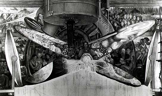 Diego Rivera, Man at the Crossroads, 1933, Rockefeller Center, New York (destroyed)