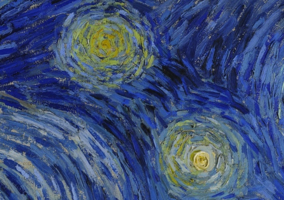 Stars (detail), Vincent van Gogh, detail The Starry Night, 1889, oil on canvas, 73.7 x 92.1 cm (The Museum of Modern Art, New York)