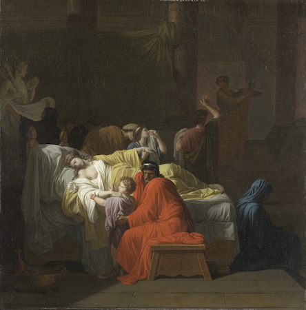 Pierre Peyron, The Death of Alcestis, 1794, oil on canvas, 97.2 x 95.7 cm (North Carolina Museum of Art)
