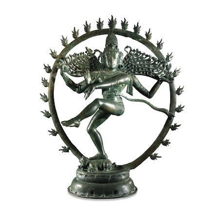 Bronze figure of Nataraja, from Tamil Nadu, Southern India, around AD 1100,89.5 cm high (British Museum, London)