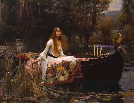 John William Waterhouse, The Lady of Shalott, 1888, oil on canvas, 153 x 200 cm (Tate Britain, London)