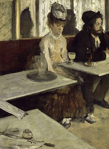 Edgar Degas, L'Absinthe, 1876, oil on canvas, 92 x 68 cm (Musée d'Orsay, Paris)