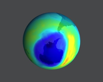 The ozone hole over Antarctica © Science Source