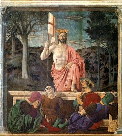 Piero della Francesca, The Resurrection, c. 1463-5, fresco, 225 x 200 cm (Museo Civico, Sansepolcro)