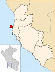 The Paracas peninsula, Peru