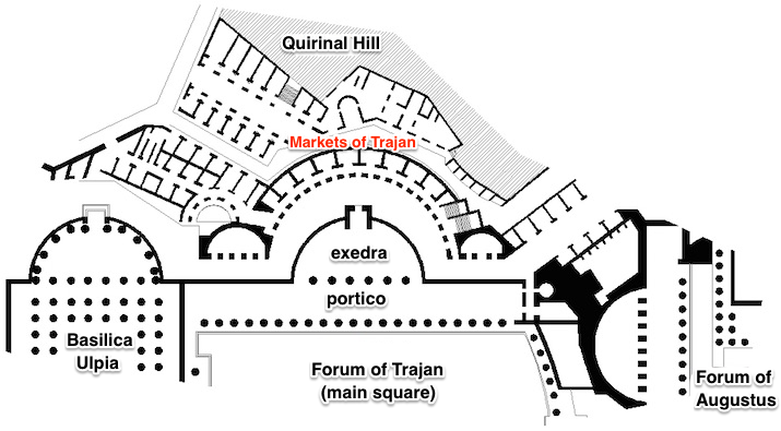 Plan of the Markets of Trajan
