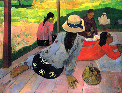 Paul Gauguin, The Siesta (Atuona, Hiva Oa, Marquesas Islands), c. 1892–94, oil on canvas, 88.9 x 116.2 cm (The Metropolitan Museum of Art)