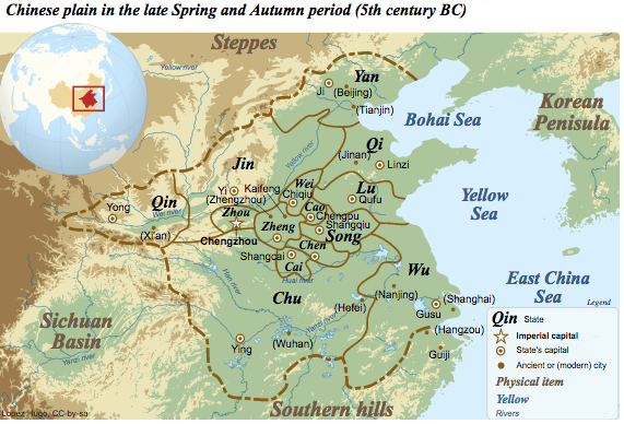 Rise of chinese dynasties article khan academy a map of the various duchies and kingdoms in the spring and autumn period just prior to the warring states period gumiabroncs Gallery