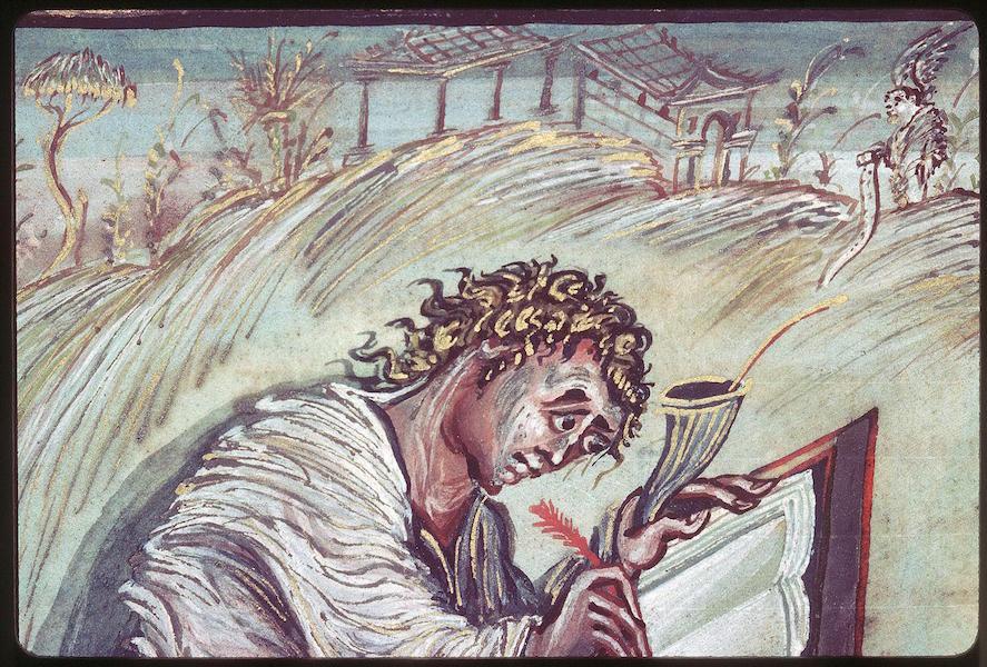 Saint Matthew From The Ebbo Gospel Video Khan Academy