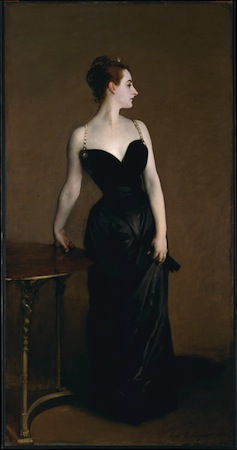 "John Singer Sargent, Madame X (Madame Pierre Gautreau), 1883-84, oil on canvas, 82-1/8 x 43-1/4"" (The Metropolitan Museum of Art)"