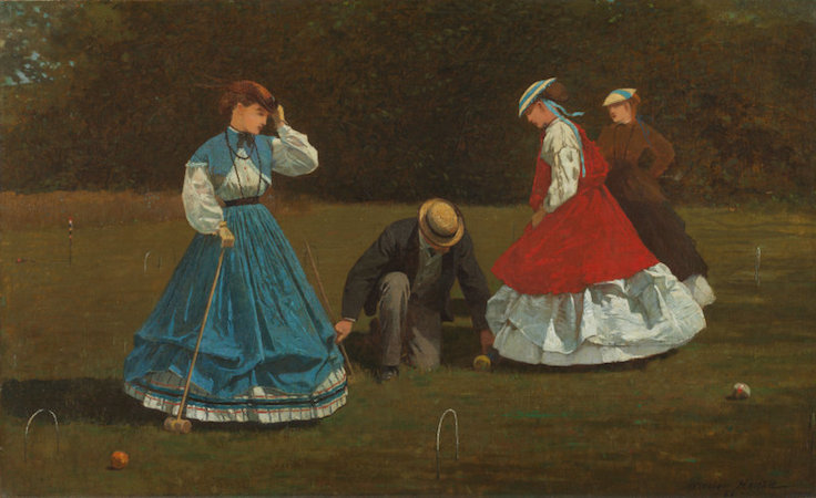 Winslow Homer, Croquet Scene, 1866, oil on canvas, 40.3 x 66.2 cm (Art Institute of Chicago)