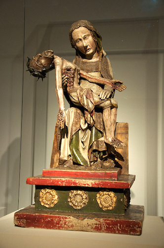 Röttgen Pietà, c. 1300-25, painted wood, 34 1/2 inches high (Rheinisches Landesmuseum, Bonn) (photo: Ralf Heinz, with permission)