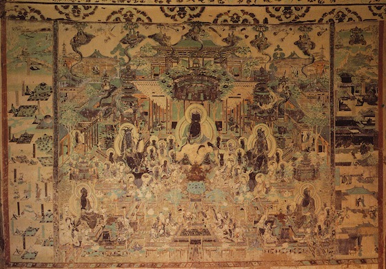 Western Paradise, Cave-temple 172, Tang dynasty, Dunhuang, Gansu province