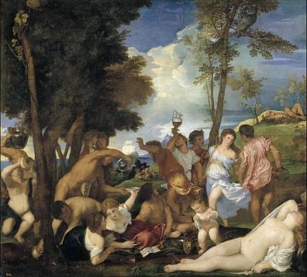 Titian, Bacchananal of the Andrians, 1523-26, oil on canvas, 175 x 193 (Museo del Prado, Madrid)